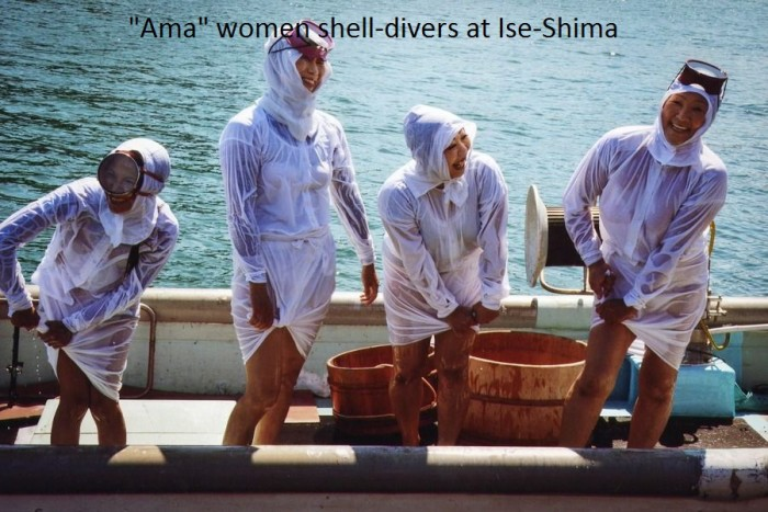 WOMEN DIVERS AT ISE-SHIMA