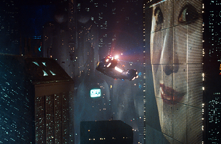 Future L.A. as depicted in Blade Runner