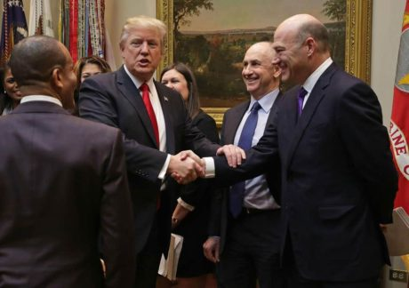 Happier times - President Trump with Gary Cohn