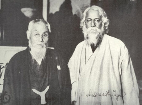 Toyama with the Nobel Prize-winning Indian poet Rabindranath Tagore