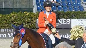 Jessica Springsteen competing in Tokyo
